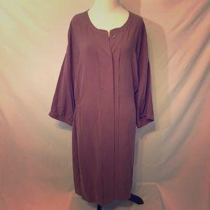Poetry dress. Mauve. Size 16. Pockets darted waist